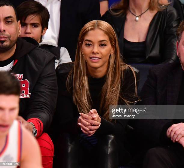 Heidy de la Rosa attends the New York Knicks Vs Boston Celtics game at Madison Square Garden on December 21 2017 in New York City