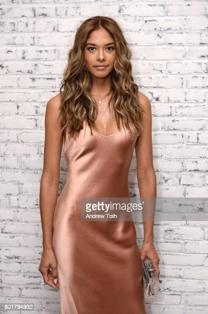 Heidy De la Rosa attends the screening after party for Baby Driver hosted by TriStar Pictures and The Cinema Society at The Crown at Hotel 50 Bowery...