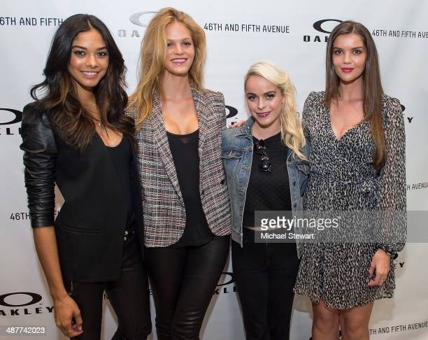 Heidy De la Rosa Erin Heatherton Taryn Manning and Natasha Barnard attend Oakley Fifth Avenue Grand Opening at Oakley Fifth Avenue on May 1 2014 in...