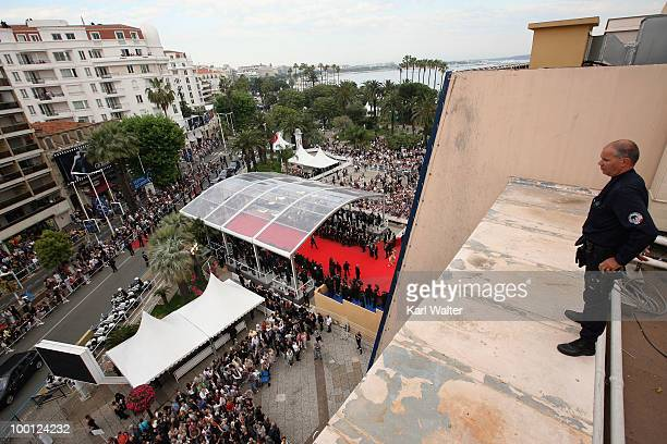 Heightened Security outside the 'Outside Of The Law' Premiere at the Palais des Festivals during the 63rd Annual Cannes Film Festival on May 21 2010...