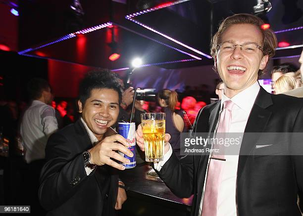 Heikal Gani and Kyle Vucko of Indochino attend the DLD Starnight at Haus der Kunst on January 25 2010 in Munich Germany