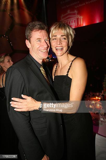 Heike Drechsler And Alain Blondel In 24th German Sports Press Ball In The Old Opera House in Frankfurt