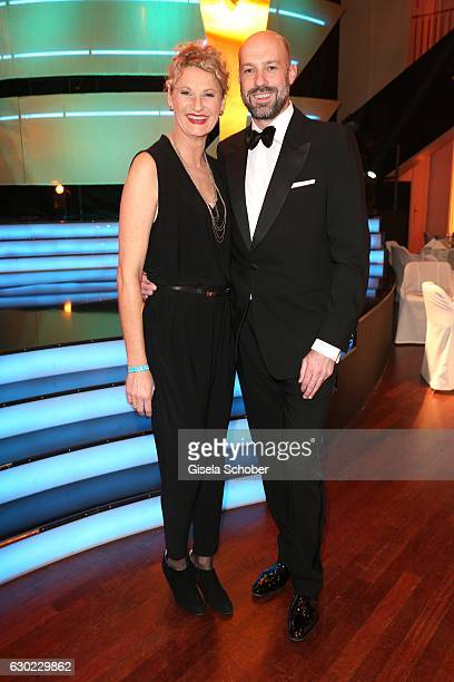 Heike Drechsler and her husband Paul Meier during the 'Sportler des Jahres 2016' Gala at Kurhaus on December 18 2016 in BadenBaden Germany