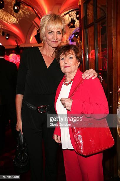 Heike Drechsler and mother Inge during the Lambertz Monday Night 2016 at Alter Wartesaal on February 1 2016 in Cologne Germany