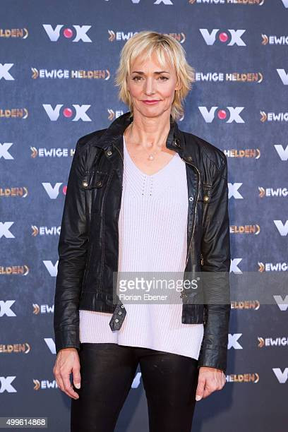 Heike Drechsler attends a photo call for the new tv show 'Ewige Helden' on December 2 2015 in Cologne Germany
