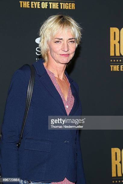 Heike Drechsler attends the black carpet prior to the premiere of the musical 'ROCKY The Musical' at Stage Palladium Theater on November 11 2015 in...