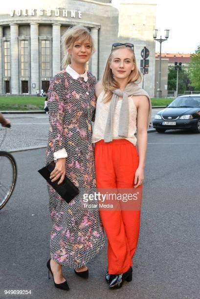 Heike Makatsch and Elisa Schlott during the premiere 'Fremde Tochter' at Babylon on April 21, 2018 in Berlin, Germany.