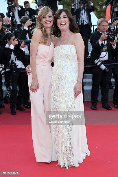 """Heike Makatsch and Iris Berben attend the """"From The Land Of The Moon """" premiere during the 69th annual Cannes Film Festival at the Palais des..."""