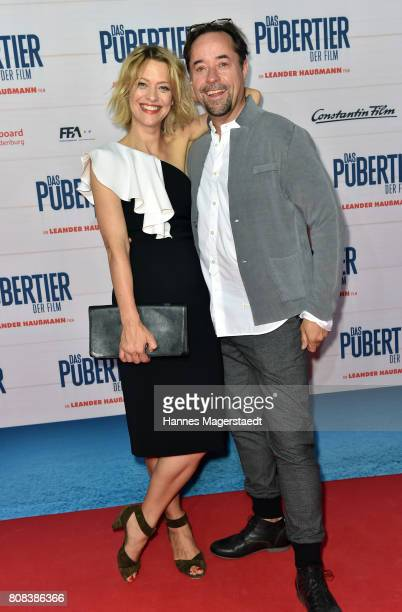 Heike Makatsch and Jan Josef Liefers during the 'Das Pubertier' Premiere at Mathaeser Filmpalast on July 4 2017 in Munich Germany