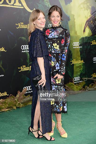 Heike Makatsch and Jessica Schwarz attend the 'The Jungle Book' German Premiere on April 05, 2016 in Berlin, Germany.