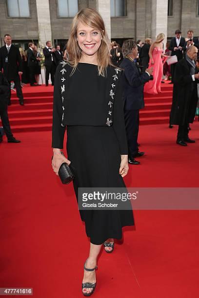 Heike Makatsch arrives for the German Film Award 2015 Lola at Messe Berlin on June 19 2015 in Berlin Germany