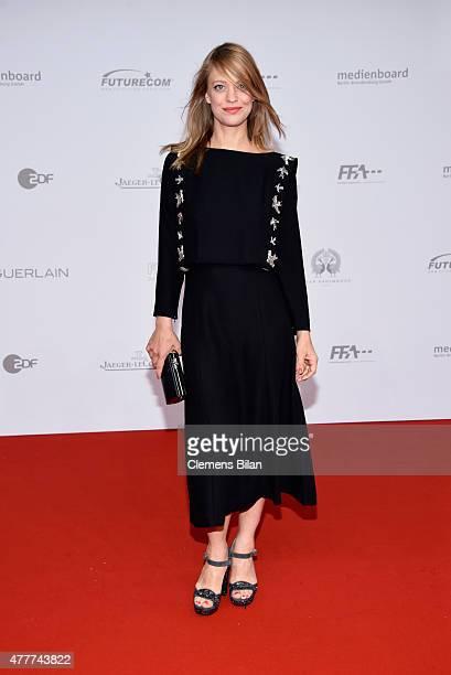 Heike Makatsch arrives for the German Film Award 2015 Lola at Messe Berlin on June 19, 2015 in Berlin, Germany.