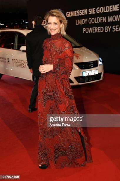 Heike Makatsch arrives for the Goldene Kamera on March 4, 2017 in Hamburg, Germany.