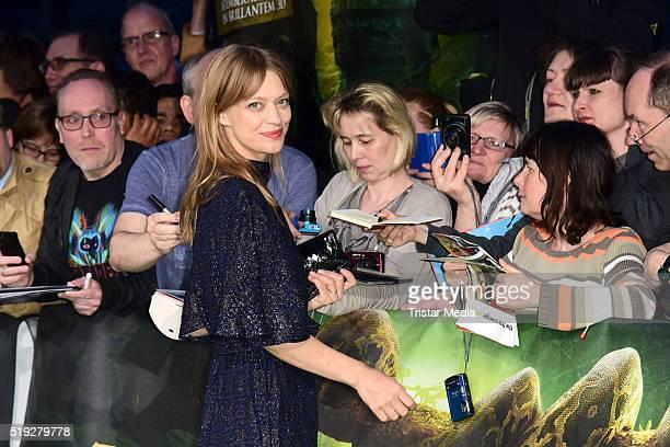 Heike Makatsch attend the 'The Jungle Book' German Premiere on April 05, 2016 in Berlin, Germany.