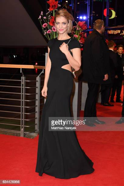 Heike Makatsch attends the 'Django' premiere during the 67th Berlinale International Film Festival Berlin at Berlinale Palace on February 9, 2017 in...