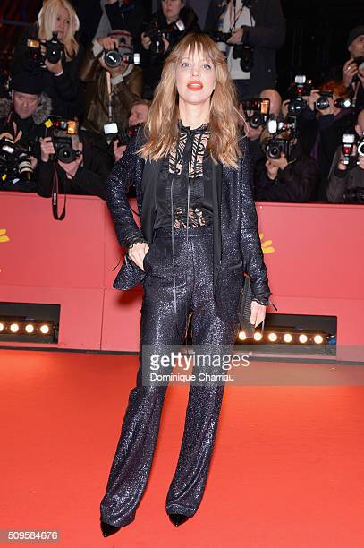 Heike Makatsch attends the 'Hail Caesar' premiere during the 66th Berlinale International Film Festival Berlin at Berlinale Palace on February 11...