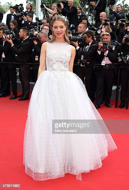 """Heike Makatsch attends the """"Irrational Man"""" Premiere during the 68th annual Cannes Film Festival on May 15, 2015 in Cannes, France."""
