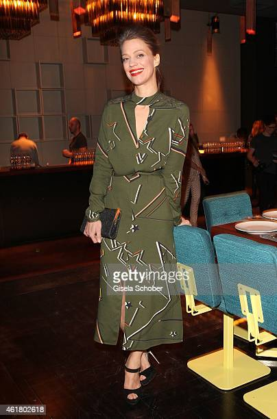 Heike Makatsch attends the LaLa Berlin Dinner with Cinderella during the Mercedes-Benz Fashion Week Berlin Autumn/Winter 2015/16 at Crackers on...