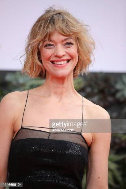 Heike Makatsch attends the Lola - German Film Award red carpet at Palais am Funkturm on May 03, 2019 in Berlin, Germany.