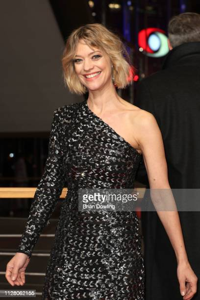 Heike Makatsch attends the The Kindness Of Strangers premiere during the 69th Berlinale International Film Festival Berlin at Berlinale Palace on...