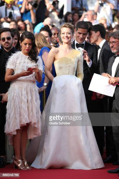 Heike Makatsch attends the The Meyerowitz Stories screening during the 70th annual Cannes Film Festival at Palais des Festivals on May 21 2017 in...
