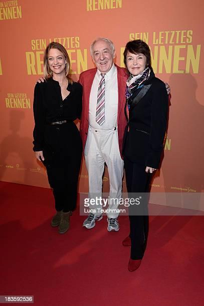 Heike Makatsch, Dieter Hallervorden and Katrin Sass attend the 'Sein letztes Rennen' Premiere at Kino in der Kulturbrauerei on October 7, 2013 in...