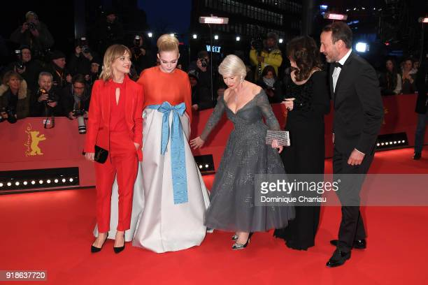 Heike Makatsch Elle Fanning Helen Mirren Iris Berben and Wotan Wilke Moehring attend the Opening Ceremony 'Isle of Dogs' premiere during the 68th...