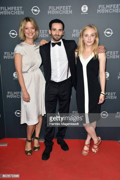 Heike Makatsch Hassan Akkouch and Elisa Schlott attend the 'Fremde Tochter' Premiere during Film Festival Munich 2017 at Arri Kino on June 28 2017 in...