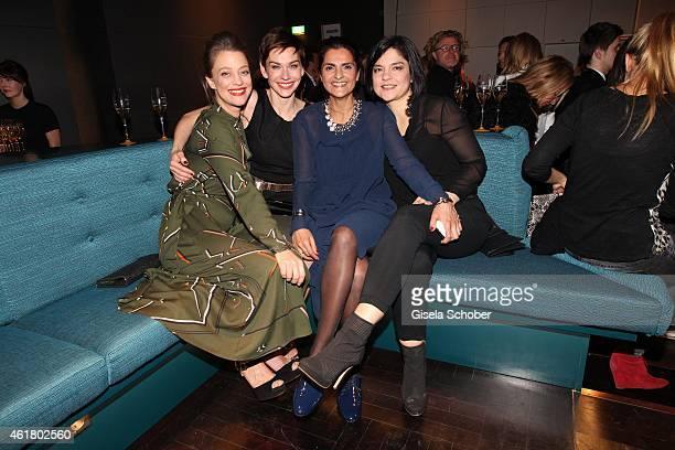 Heike Makatsch,Christiane Paul, Designer Leyla Piedayesh, Jasmin Tabatabai attend the LaLa Berlin Dinner with Cinderella during the Mercedes-Benz...