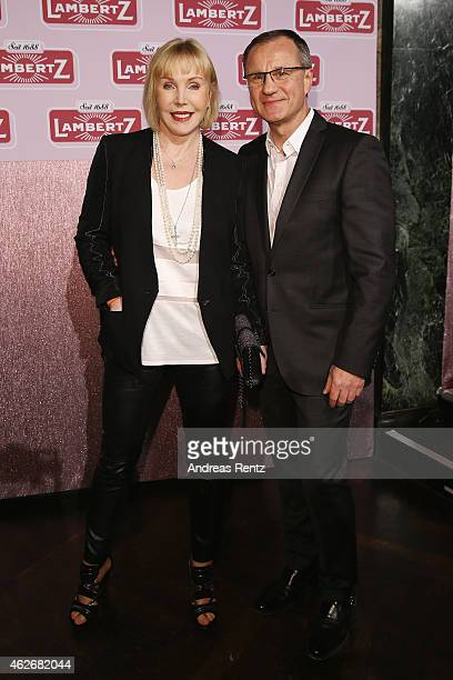Heike Maurer and her husband Ralf Immel arrive for the Lambertz Monday Night 2015 at Alter Wartesaal on February 2 2015 in Cologne Germany
