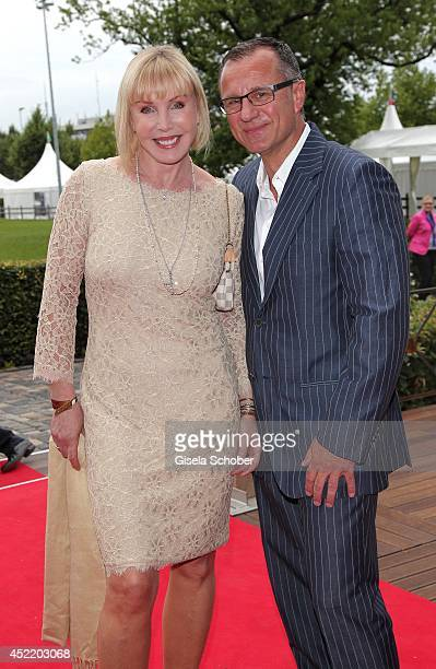 Heike Maurer and her husband Ralf Immel attend the CHIO 2014 media night on July 15 2014 in Aachen Germany