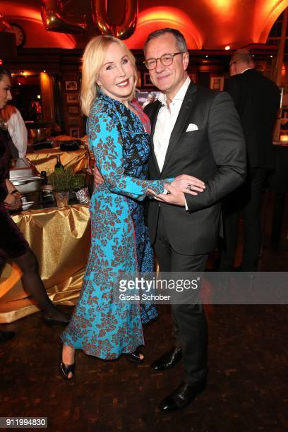 Heike Maurer and her husband Ralf Immel during the 20th Lambertz Monday Night 2018 at Alter Wartesaal on January 29 2018 in Cologne Germany