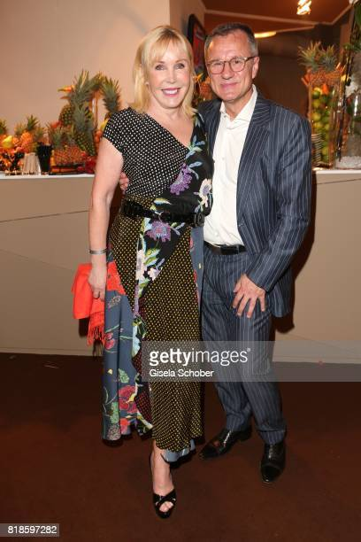 Heike Maurer and her husband Ralf Immel during the media night of the CHIO 2017 on July 18 2017 in Aachen Germany