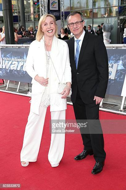 Heike Maurer and her husband Ralf Immel during the Radio Regenbogen Award 2016 at Europapark Rust on April 22 2016 in Rust Germany