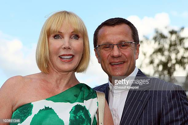 Heike Maurer and her husband Ralf Immel pose during the Media Night of the CHIO on July 13 2010 in Aachen Germany