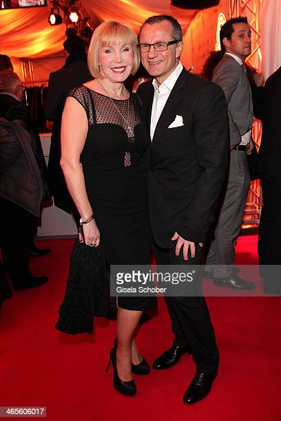 Heike Maurer and husband Ralf Immel attend the Lambertz Monday Night at Alter Wartesaal on January 27 2014 in Cologne Germany