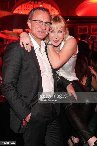 Heike Maurer and husband Ralf Immel during the Lambertz Monday Night 2015 at Alter Wartesaal on February 2 2015 in Cologne Germany