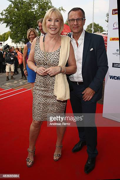 Heike Maurer and Ralf Immel attend the FEI European Championship 2015 media night on August 11 2015 in Aachen Germany