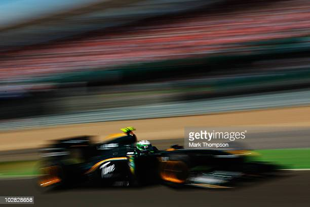 Heikki Kovalainen of Finland and Lotus drives during the British Formula One Grand Prix at Silverstone on June 11 in Northampton, England.