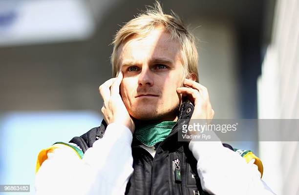 Heikki Kovalainen of Finland and Lotus is seen during winter testing at the Circuito De Jerez on February 19, 2010 in Jerez de la Frontera, Spain.