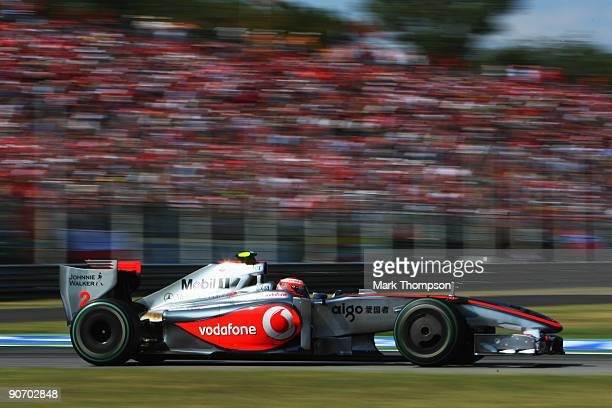 Heikki Kovalainen of Finland and McLaren Mercedes drives during the Italian Formula One Grand Prix at the Autodromo Nazionale di Monza on September...