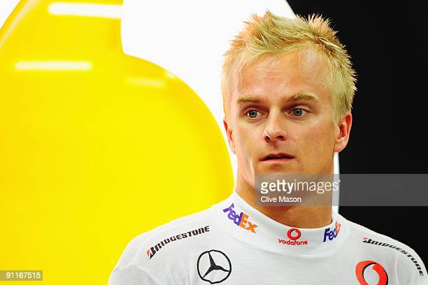 Heikki Kovalainen of Finland and McLaren Mercedes prepares to drive during final practice prior to qualifying for the Singapore Formula One Grand...