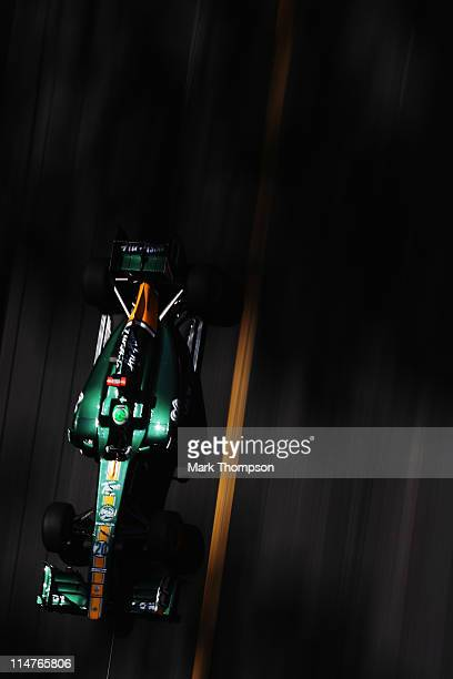 Heikki Kovalainen of Finland and Team Lotus drives during practice for the Monaco Formula One Grand Prix at the Monte Carlo Circuit on May 26, 2011...