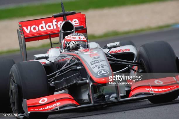 Heikki Kovalainen of Finland and team McLaren Mercedes drives the new MP424 during Formula 1 testing during formula one testing at the Circuito de...