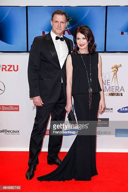 Heiko Kiesow and Iris Berben attend the Goldene Kamera 2015 on February 27 2015 in Hamburg Germany