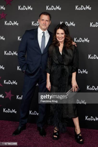 Heiko Kiesow and Iris Berben attend the KaDeWe Grand Opening event at KaDeWe on December 10, 2019 in Berlin, Germany.
