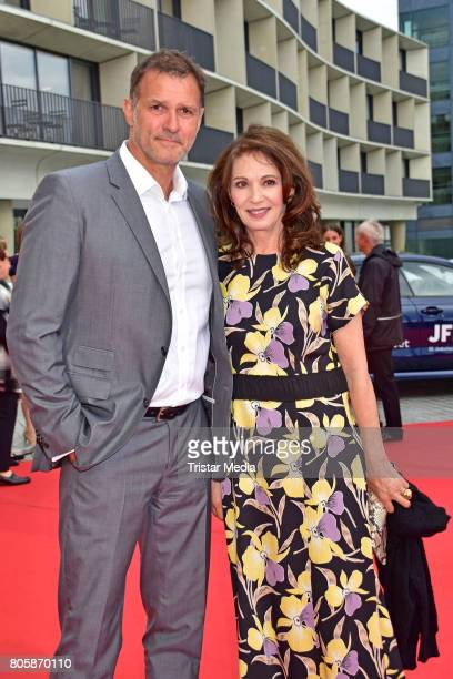 Heiko Kiesow and Iris Berben attend the Opening Gala Of The 23. Jewish Film Festival Berlin And Brandenburg 2017 at Hans Otto Theater on July 2, 2017...