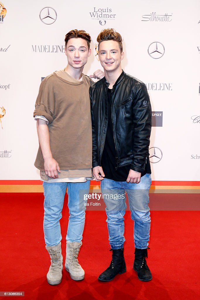 Heiko Lochmann and Roman Lochmann alias 'Die Lochis' attend the Tribute To Bambi at Station on October 6, 2016 in Berlin, Germany.