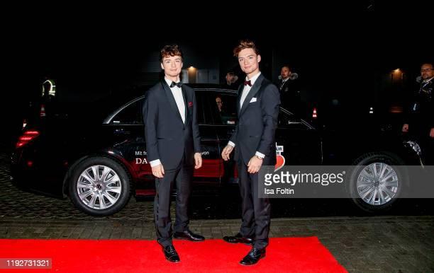 "Heiko Lochmann and Roman Lochmann alias ""Die Lochis"" during the Daimlers ""BE A MOVER"" event at Ein Herz Fuer Kinder Gala at Studio Berlin Adlershof..."