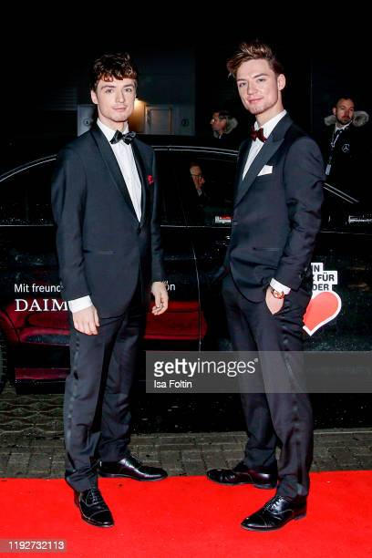 Heiko Lochmann and Roman Lochmann alias Die Lochis during the Daimlers BE A MOVER event at Ein Herz Fuer Kinder Gala at Studio Berlin Adlershof on...